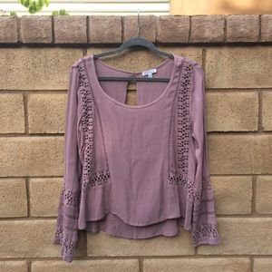 peasant blouse with open back